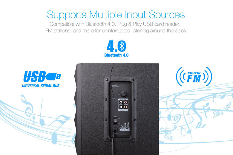 Колонки с Буфер 2.1 Fenda с BLUETOOTH - USB MP3/FM/Remote